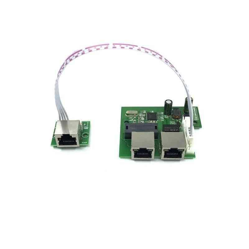 Mini 3-port Ethernet, Network Lan Hub, Switch Board With 8-pin Head Port