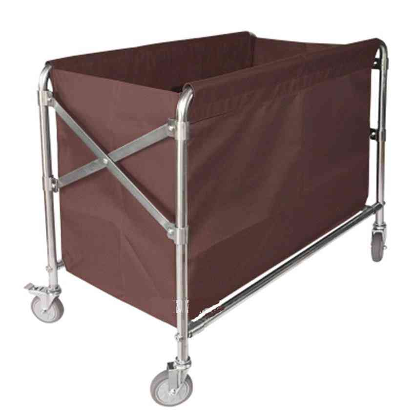 Folding Trolley Stainless Steel Hotel Clean Storage Car Dirty Clothes Cart Cleaning