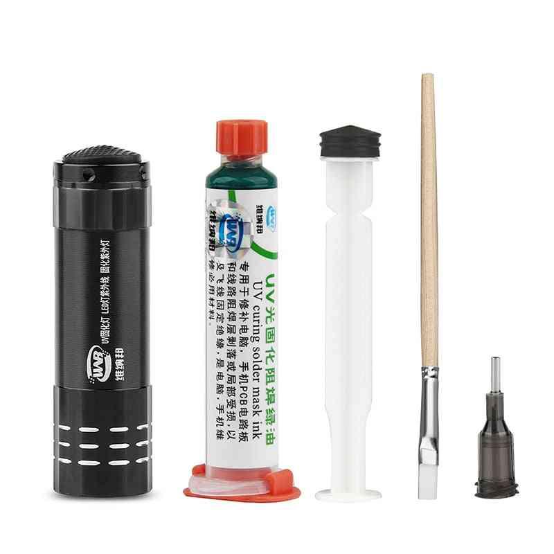 Green Oil Uv Solder Mask, Bga, Pcb, Paint Prevent Corrosive Arcing, Soldering Paste, Flux Inks, Soft Nylon Brush
