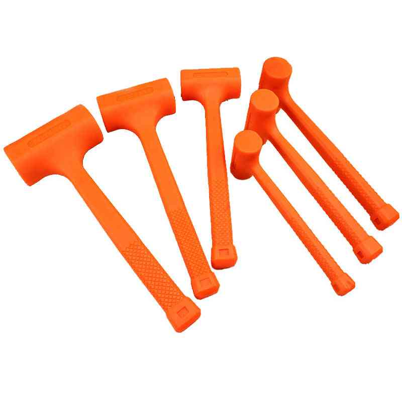 Dead Blow Mallet, Orange Soft Rubber Unicast Hammer