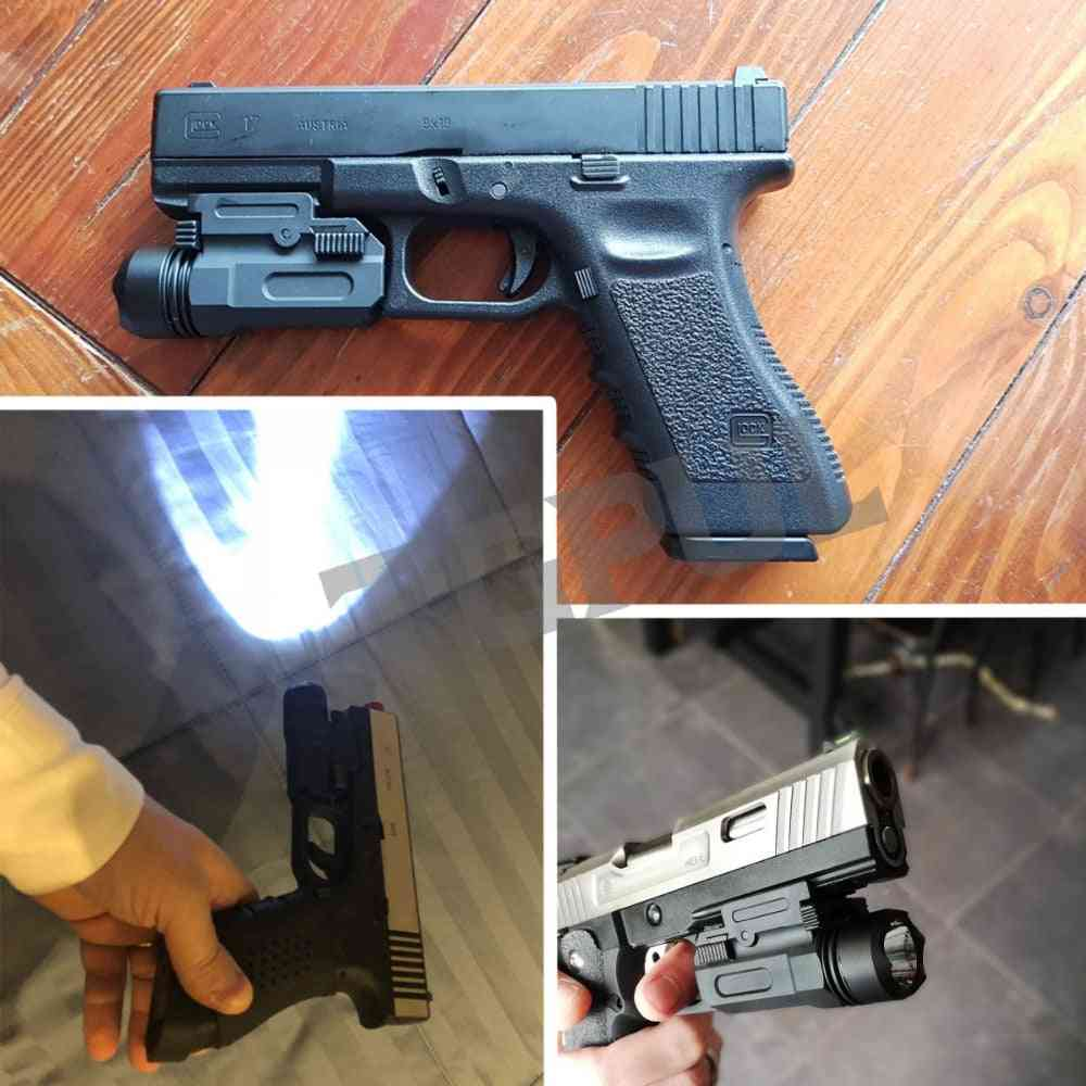 Airsoft Mini Pistol Light, Quick Detach Handgun, Flashlight Led Rifle Gun, Tactical Torch
