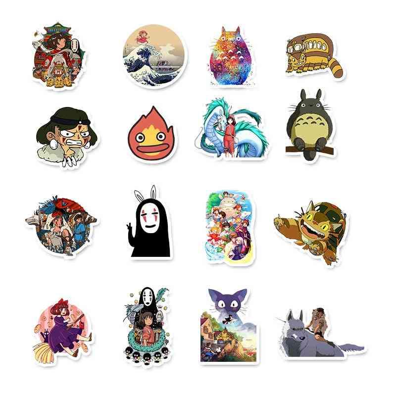 Miyazaki Hayao Anime Graffiti Sticker For Computer, Skateboard Decoration