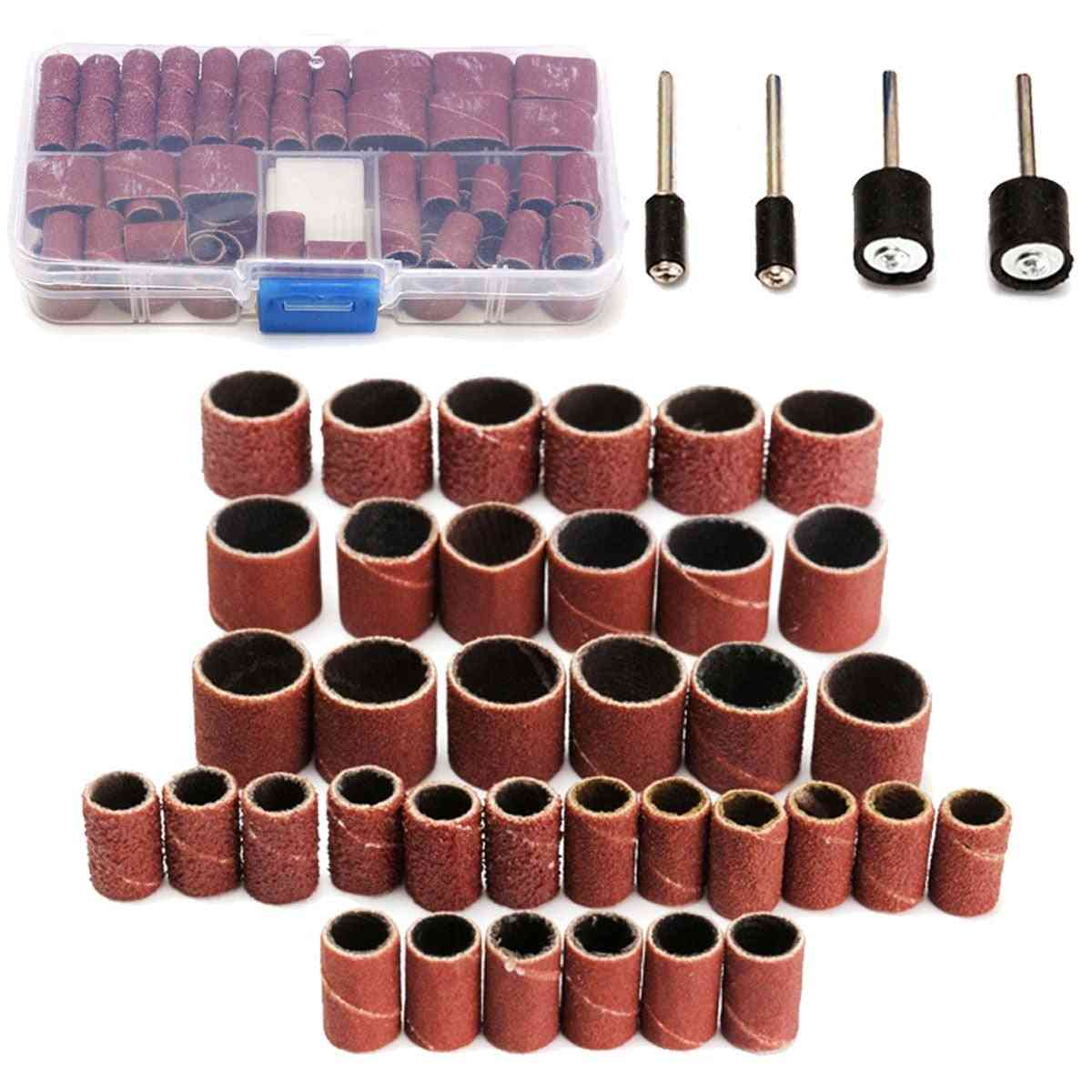 104pcs Sanding Bands Drums Sleeve For Dremel Good Thermal Conductivity