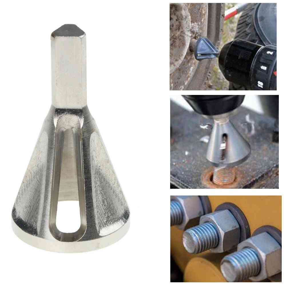 Triangle Stainless Steel, External Chamfer For Chuck Drill, Granding Trimming Tire Repair Tools