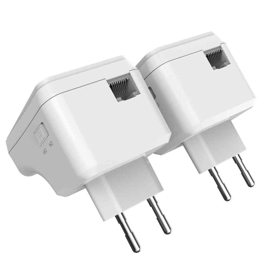 1 Pair Wi-fi Powerline Ethernet Extender Kit, Mini Plc Adapter