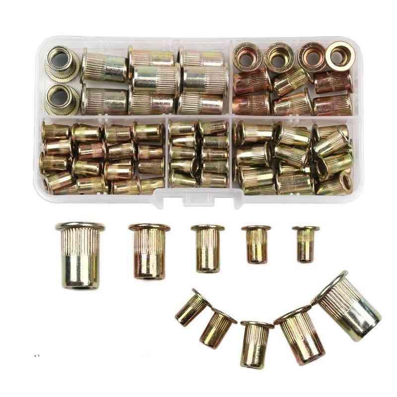100pcs M3 M4 M5 M6 M8 Carbon Steel Rivet Nut Set