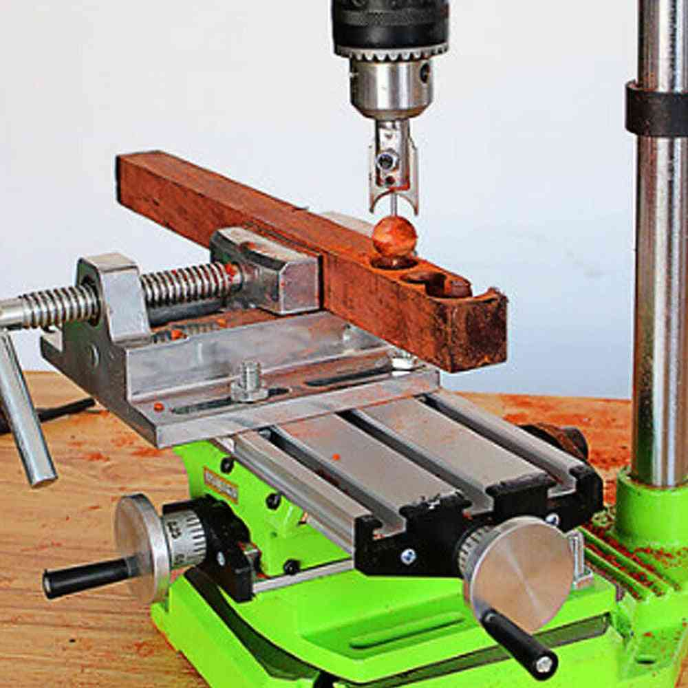 Mini Precision Multi-functional Milling Machine Bench Drill Vise Fixture Work Table