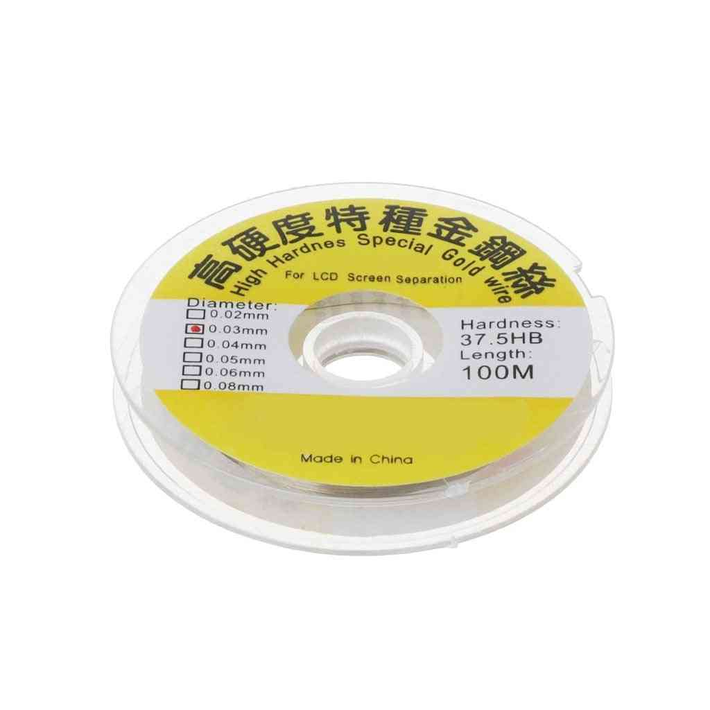 100m Alloy Gold Molybdenum Wire Cutting Line