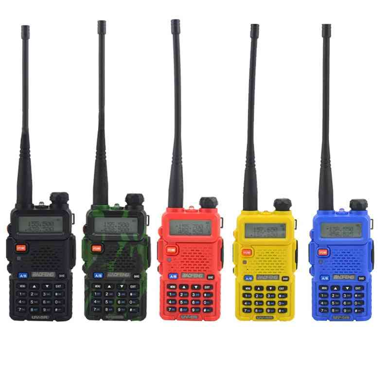 Dual Band Two Way Radio Walkie Talkie, Portable Transceiver With Earpiece