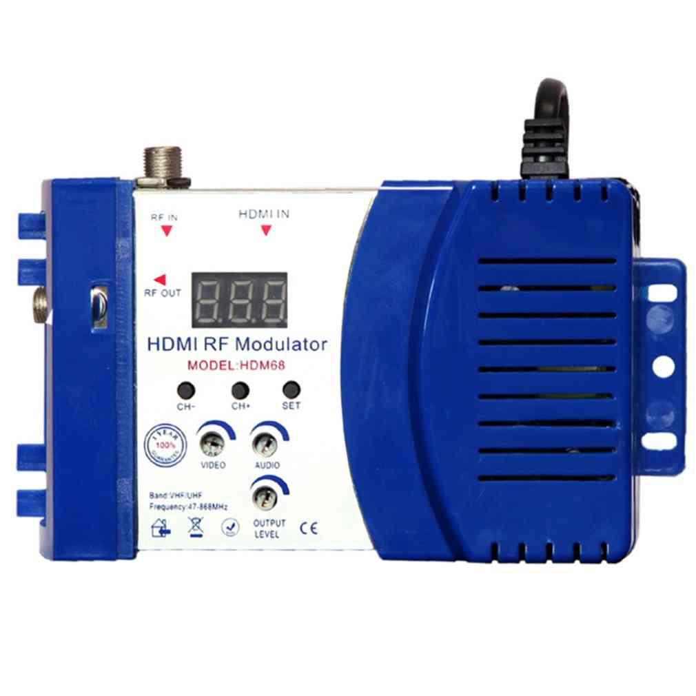 Hdm68 Modulator Digital Rf Hdmi Modulator Av To Rf Converter