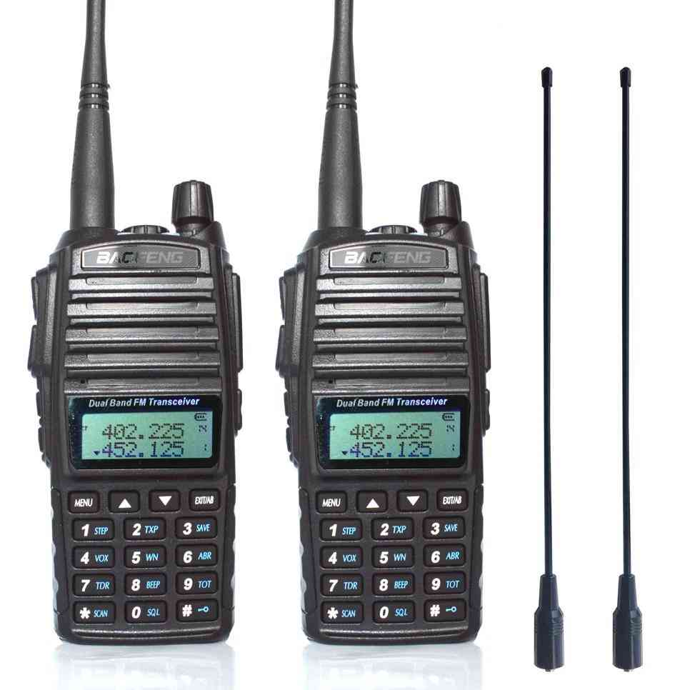Portable Two Way Radio Dual-band Transceiver And Antenna