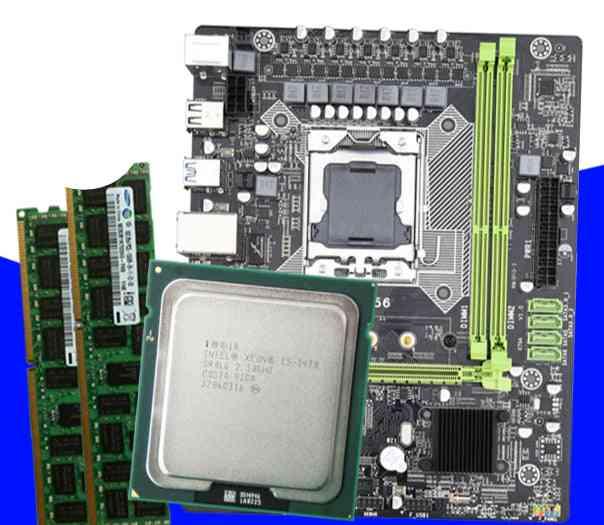 X9a Motherboard Set With Xeon Lga 1356 E5 2420 C2 2x4gb=8gb 1333mhz Ddr3 Ecc Reg Memory