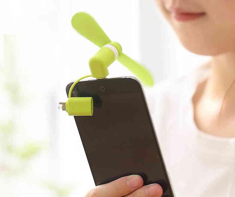 Portable Mini 2 In 1 Mobile Phone Fan
