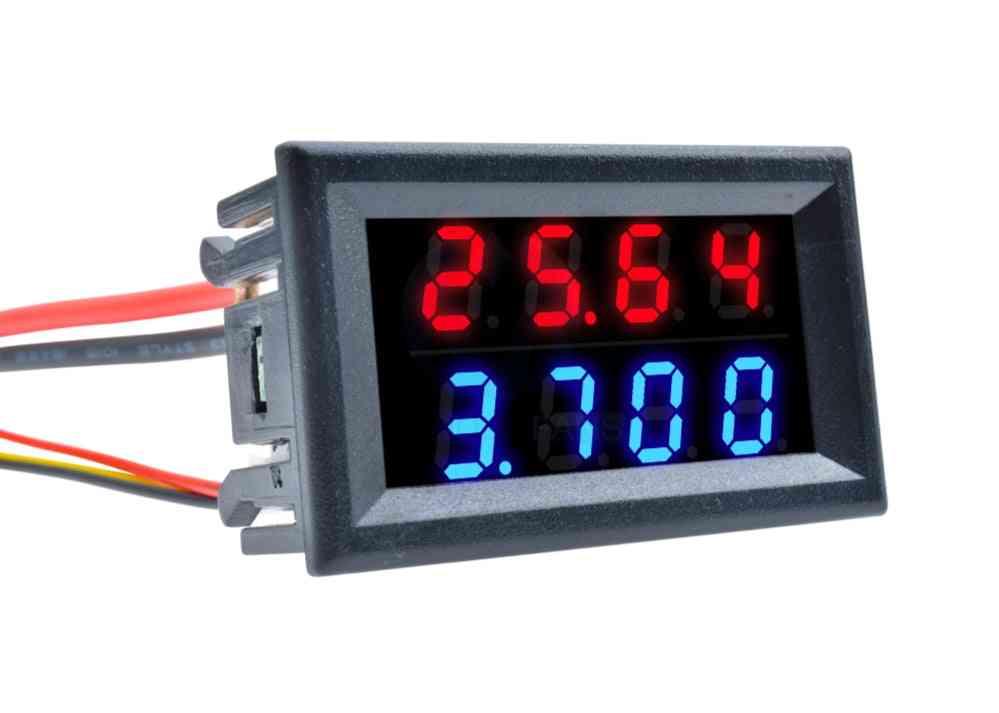 Digital Led Voltmeter Amp, Dual Voltage Meter, Gauge Connectors With 5-wires