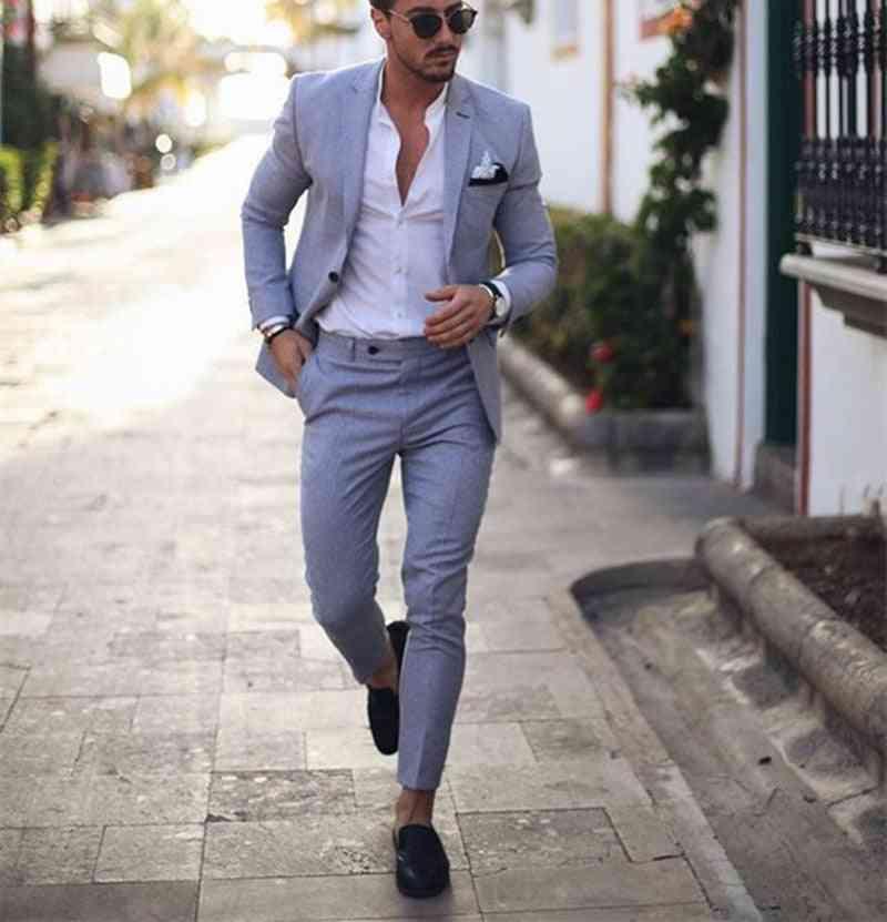 2-pieces Business Peaked Lapel, Homme Party, Jacket & Pant  Suits