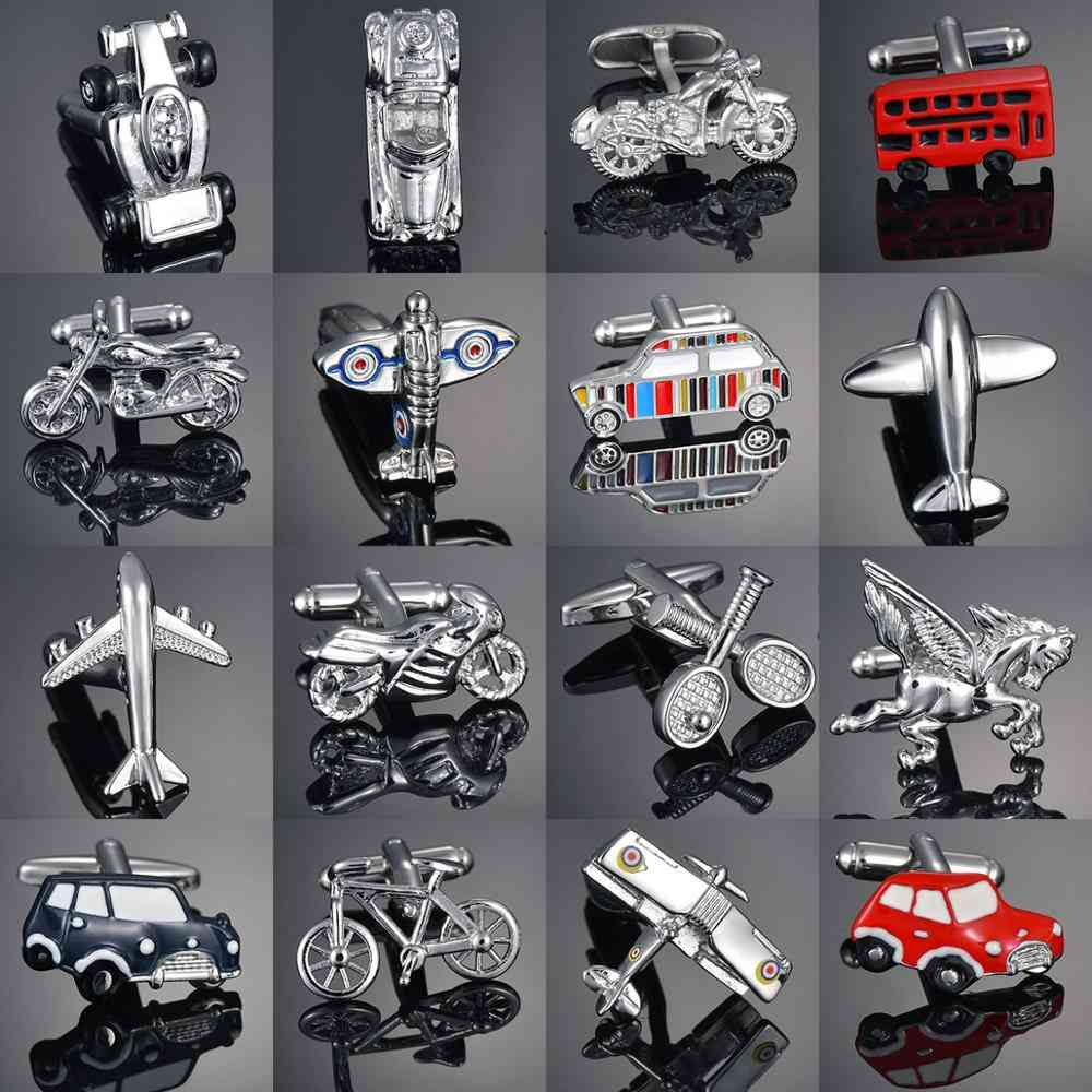 Vehicle Motorcycles/bicycles/racing/cars Cufflinks  Modeling Men's French Shirts Cuff Links
