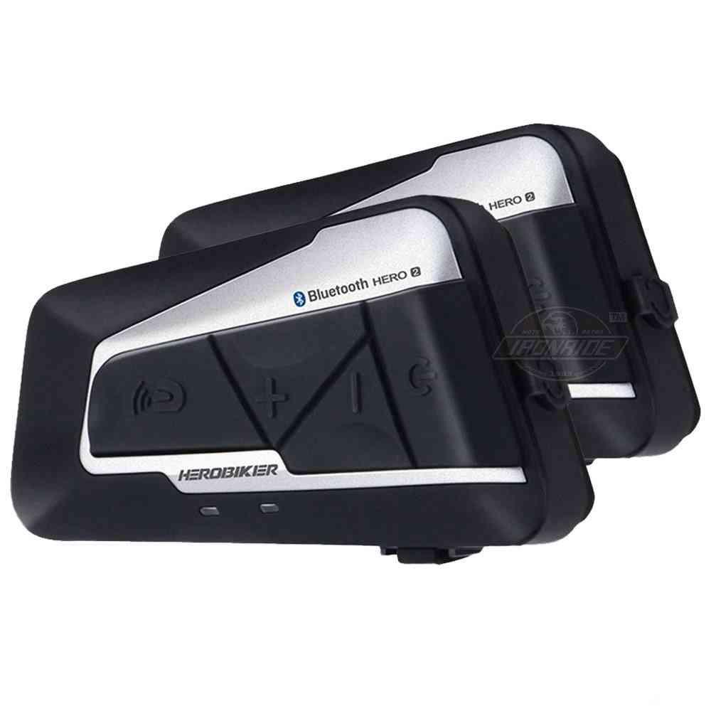 2-sets Helmet Intercom, Wireless Bluetooth, Moto Headset, Interphone Fm, Radio For 2 Rides