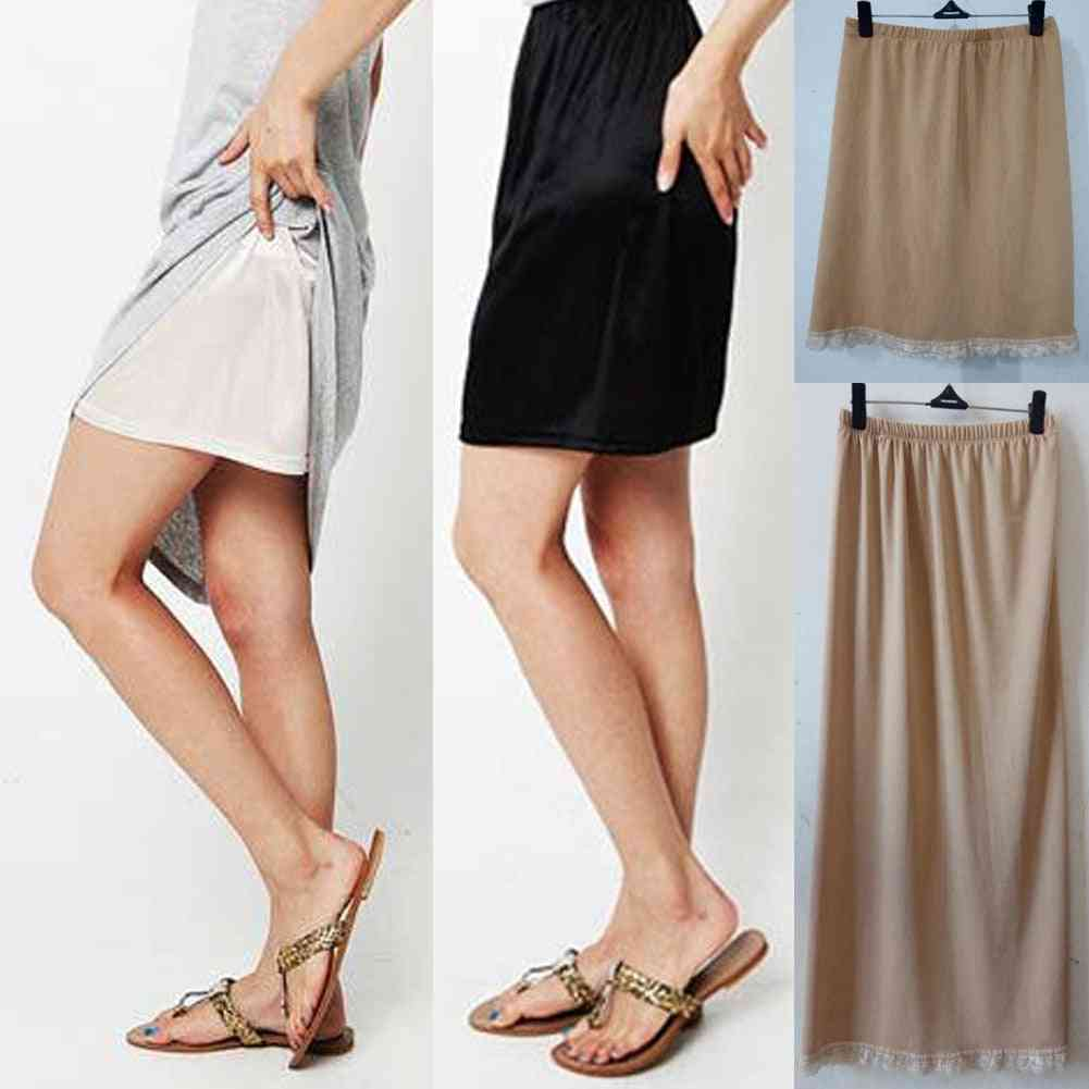 Summer Sexy Intimates Casual Underskirts Basic Mini Skirt Underdress Loose Half Slips Petticoat