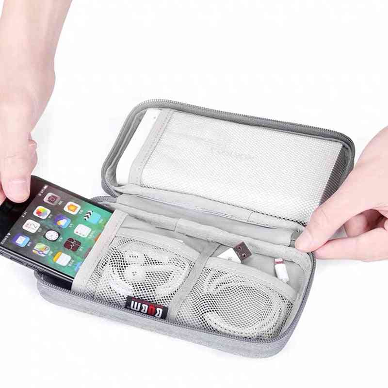 Protective Travel Case Storage Bag For Power Bank, Charger, Hdd