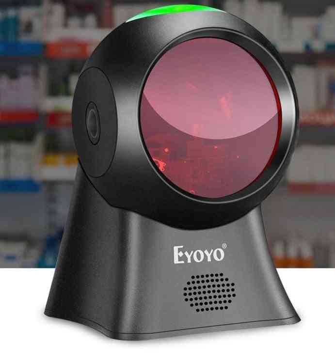 Desktop Barcode Scanner, Usb Wired, Automatic Sensing Scanning