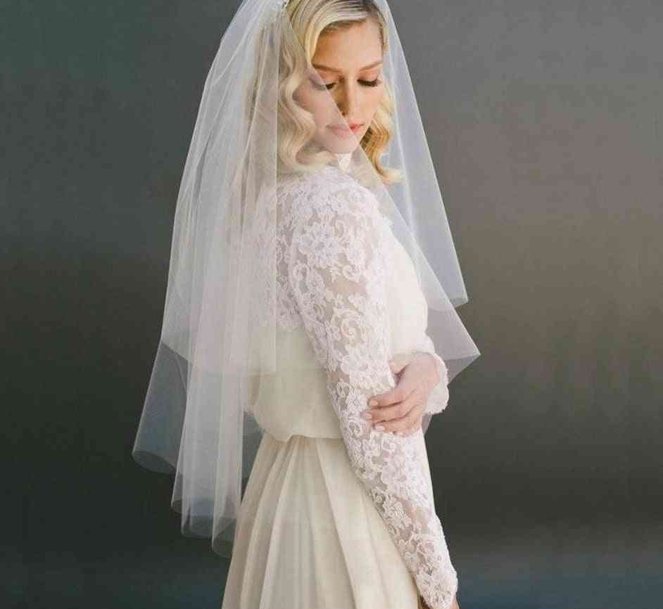 Women's Fashion Short Bridal Veil Two Layer For Wedding Party