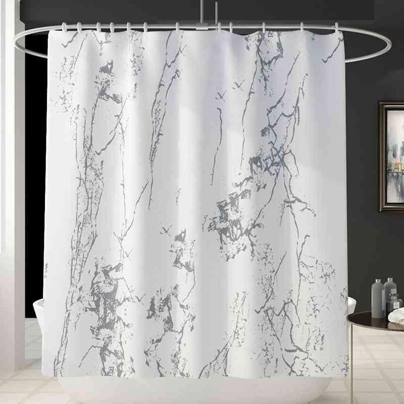 Modern Style Bath Mat Shower Curtain Set Memory Foam Toilet Rug Absorbent Foot Anti Slip Carpet