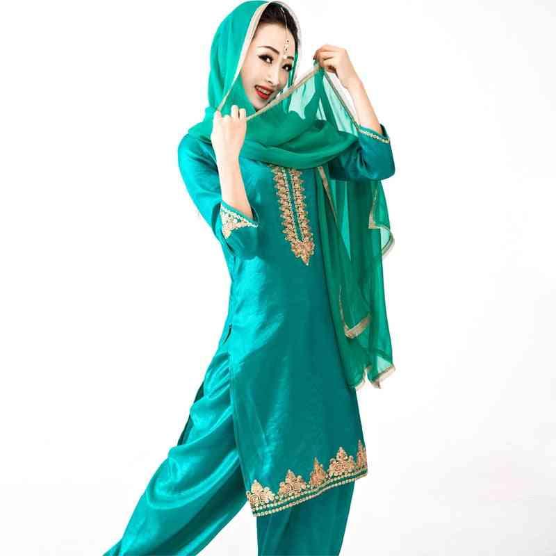 Cotton Coat- Punjabi Dupattas Traditional Blouse, Pants, Scarf Kurtas Sets