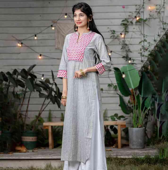 Ethnic Styles, Print Cotton Linen, Thin Lehenga Choli, Elegant Top Pants Sets