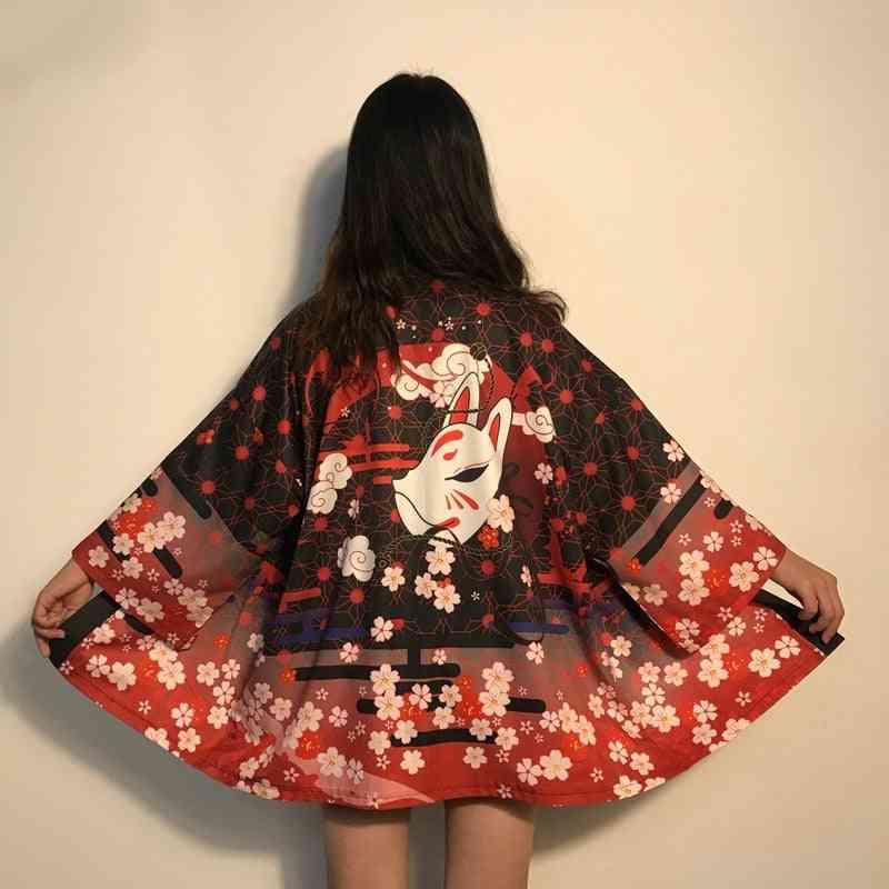 Kimono Cardigan, Traditional Japanese, Haori Shirts