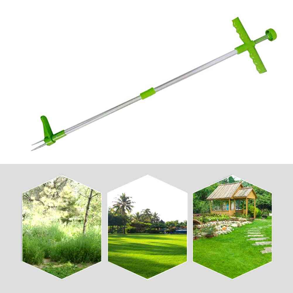 Portable Long Handled Lightweight Durable Garden Lawn Weed Puller Root Remover
