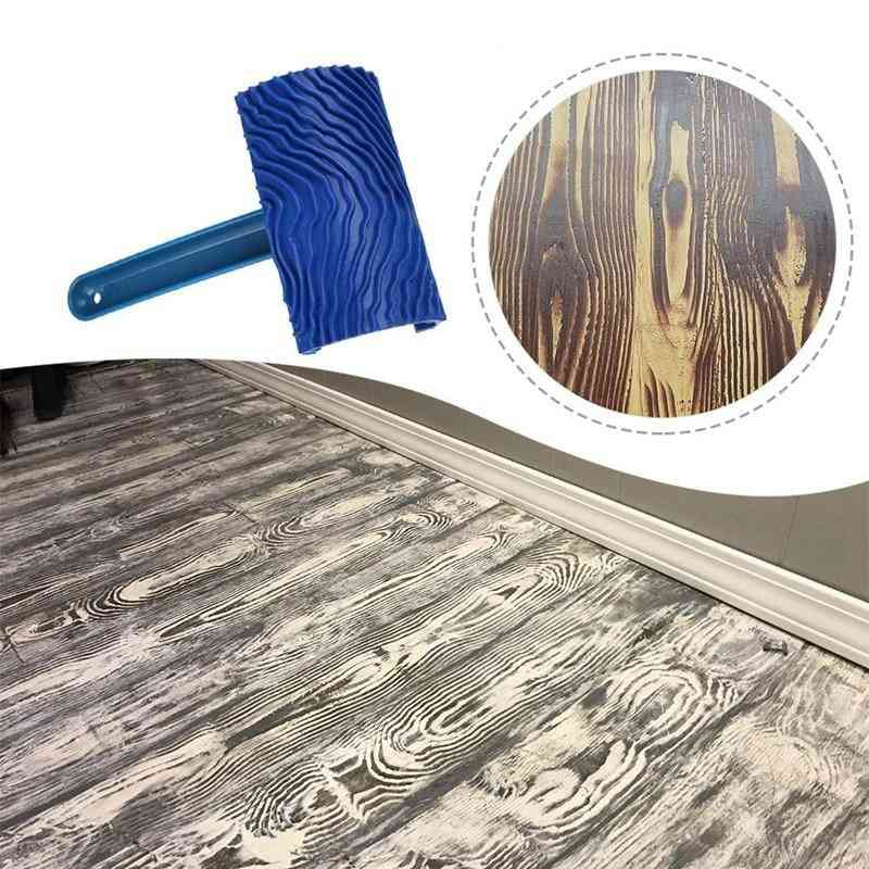 High Quality Wood Pattern Rubber Diy With Handle Grain Brush Paint Tool