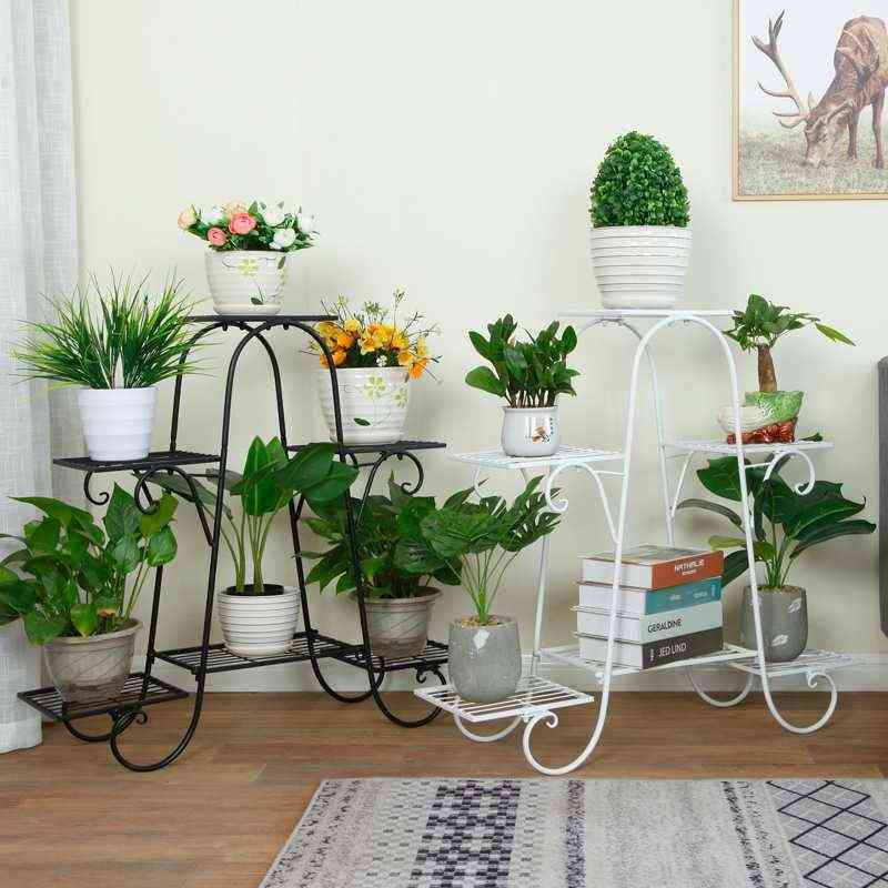 6 Layers European Wrought Iron Flower Stand