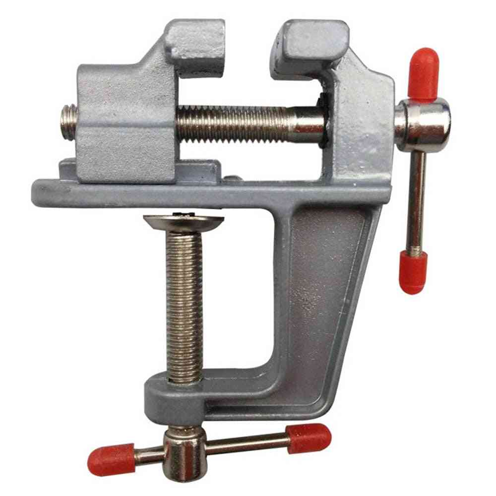 Mini Table Vise Bench, Swivel Lock Clamp For Craft, Hobby, Home Tool Accessories