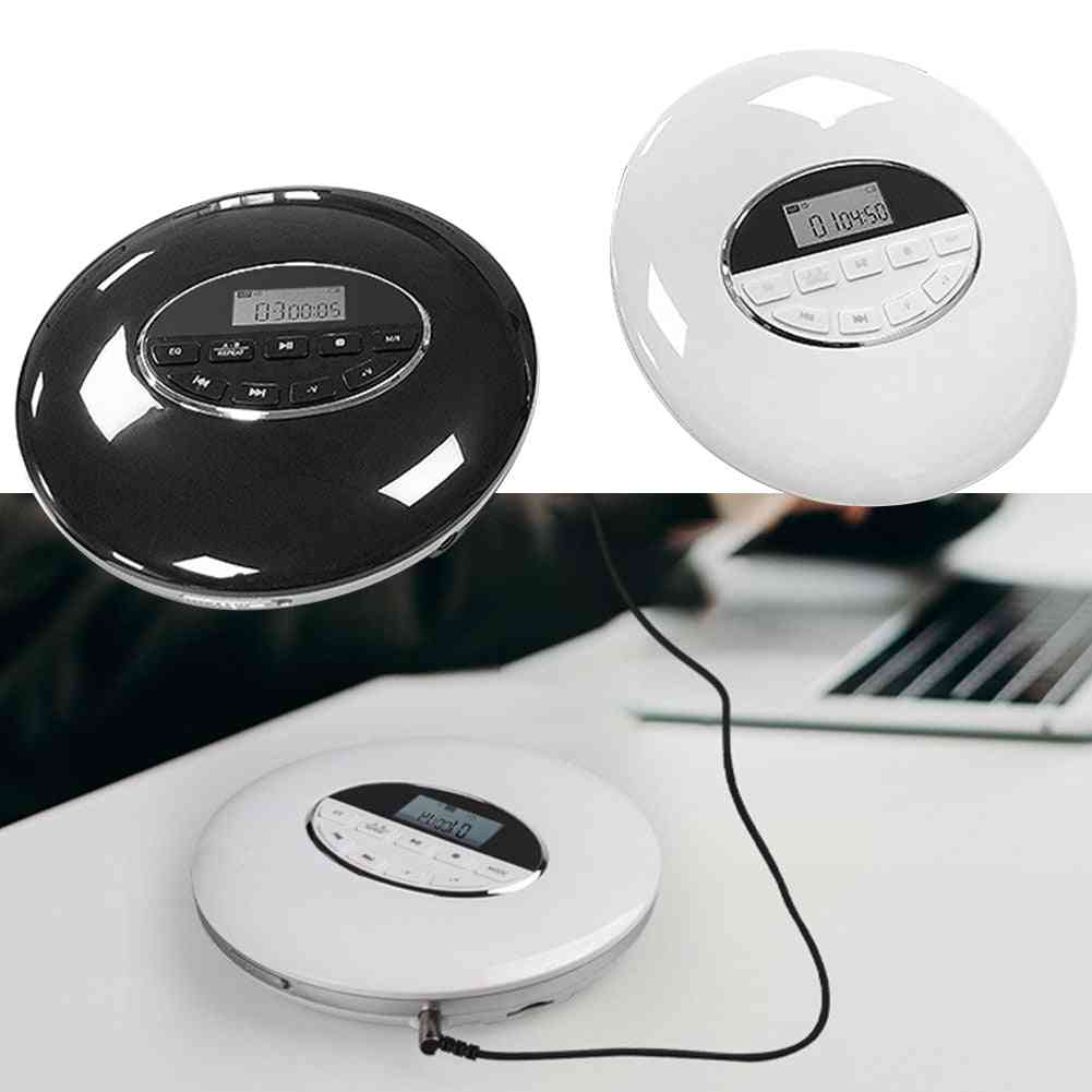 Portable Cd Player With Bluetooth Walk Man Player Lcd Display Audio 3.5mm Jack For