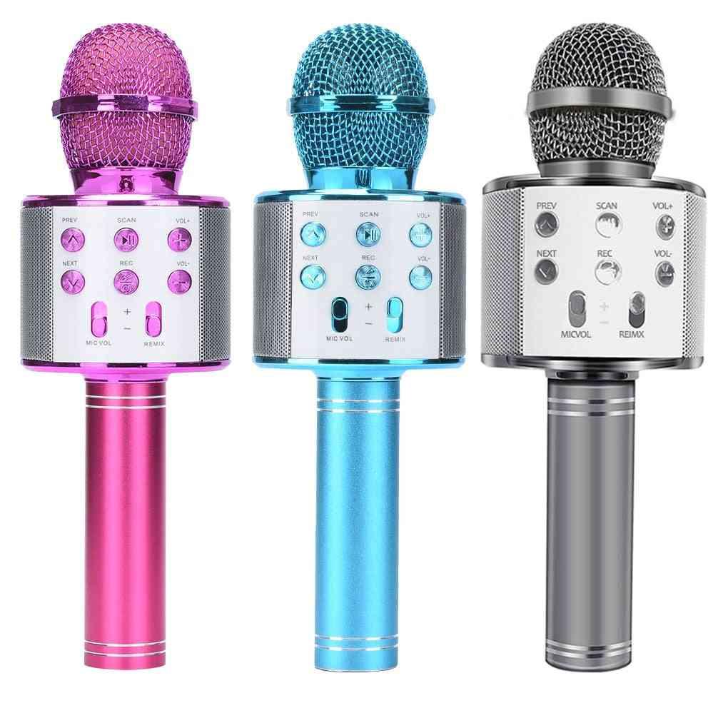 Portable Bluetooth Karaoke Microphone Wireless Professional Speaker Home Ktv Handheld