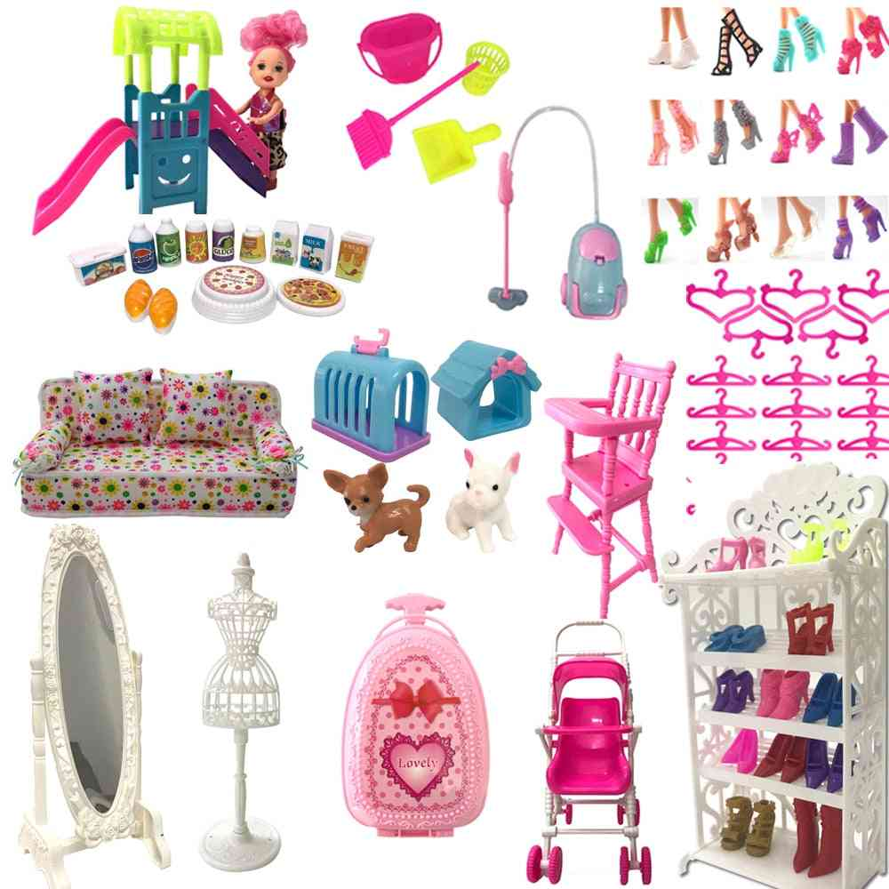 Nk Mix Doll Accessories Cute Furniture Toy Shoe Rack Hangers For Barbie Doll For Kelly Dollhouse