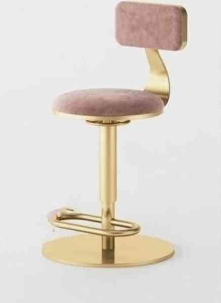 Luxury Home Backrest Bar Chair