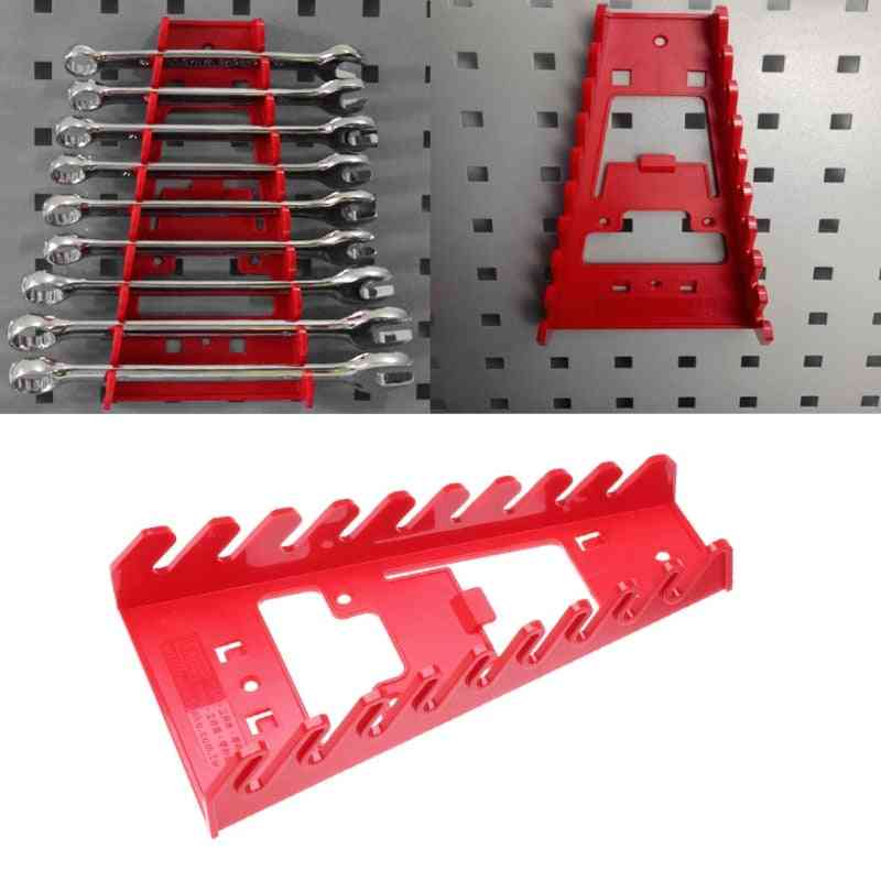 Plastic Spanner Rack Wrench Holder Storage Rail Tray Wrench Organizer Tools