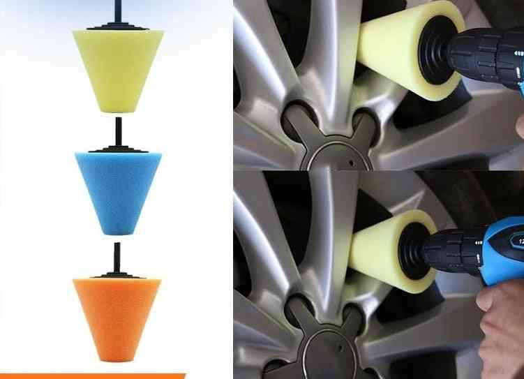 Burnishing Foam Sponge, Polishing Pad For Car Polisher, Tires Wheel, Hub Tool