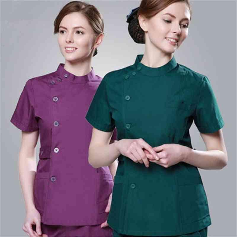 Summer Women Customized Logo Uniform Set Design Slim Fit Dental Uniform