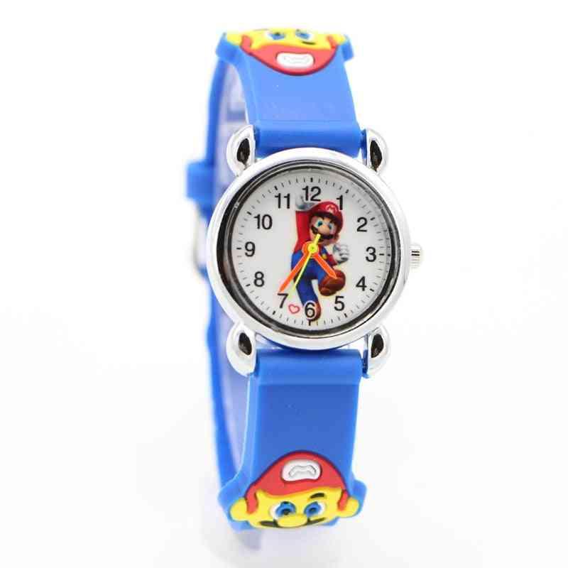 Cartoon Super Mario Doll Kids Watch,,, Students Quartz Wristwatches