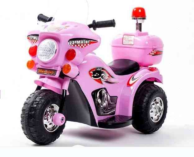 Children Electric Car Motorcycle, Tricycle Baby Stroller Police Toy
