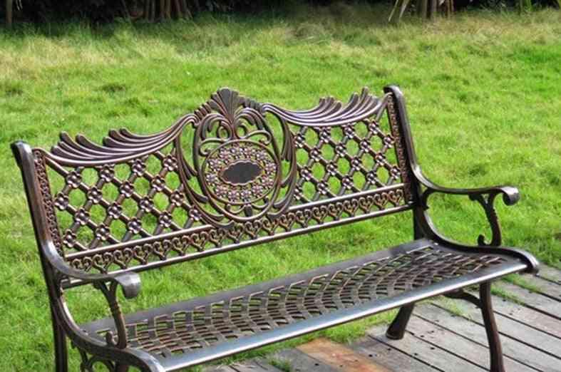 Outdoor Furniture Cast Aluminum Frame Porch Chair