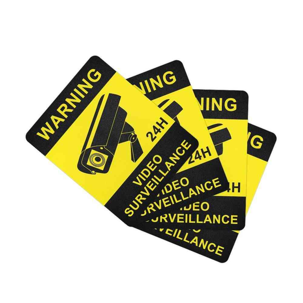 Warning Stickers Surveillance Security Camera Alarm Sticker / Tape