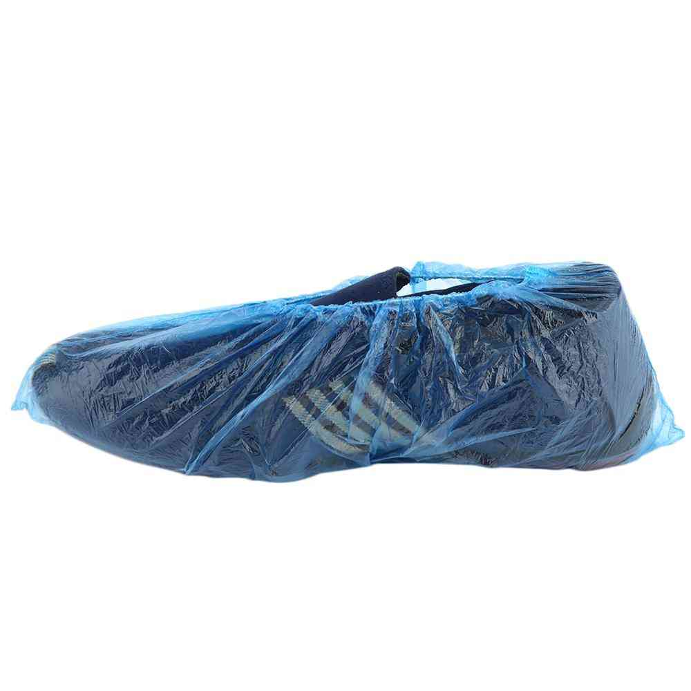 Disposable Plastic Shoe Covers, Rooms Outdoors Waterproof Rain Boot Care Kits (m)
