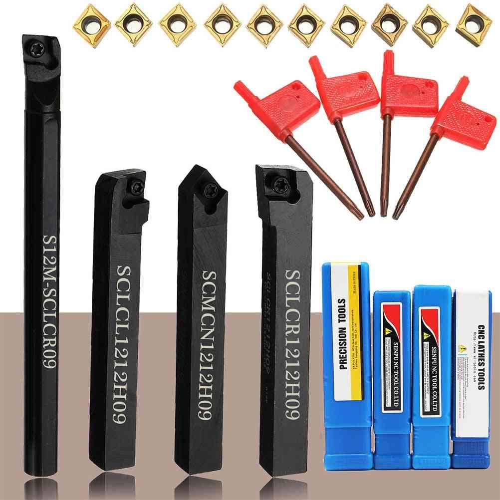 18pcs Lathe Turning Wrench Machine Tool Set  (black)