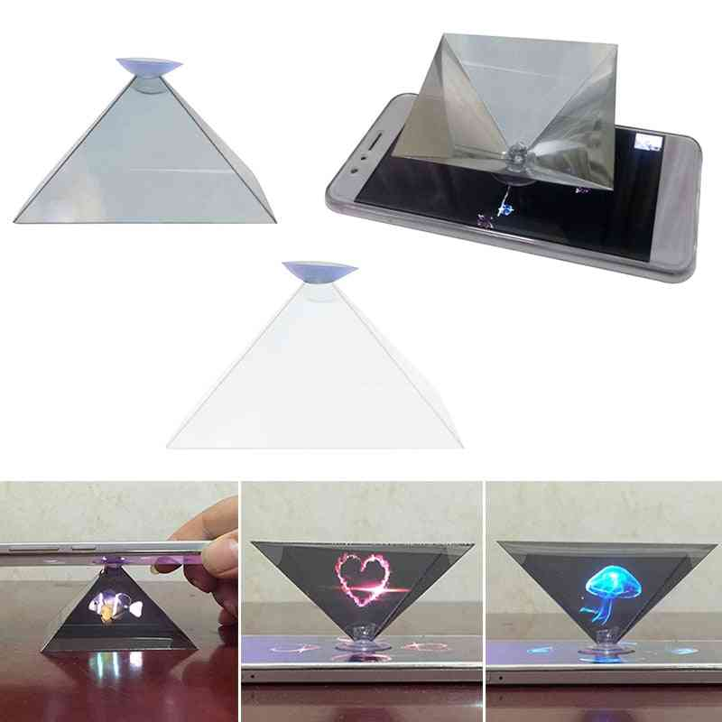 3d Hologram Pyramid Display Projector Video Stand
