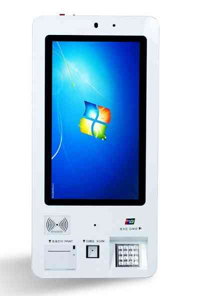 Wall Mounted Self Service, Touch Screen Nfc Card Reader Terminal