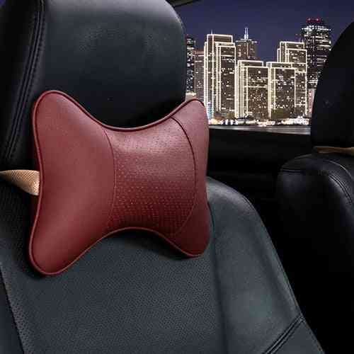 Neck Pillows Pu Leather Headrest/protector/backrest Cushion Easy Install And Clean