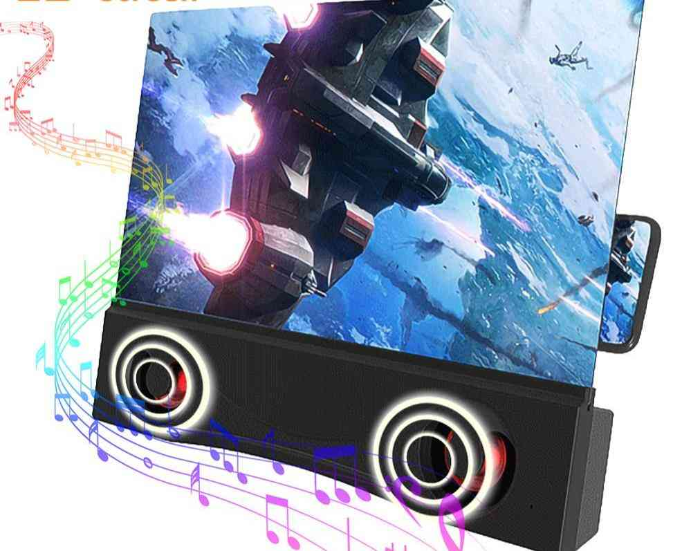 3d Phone Screen Magnifier Bluetooth Stereo Speaker